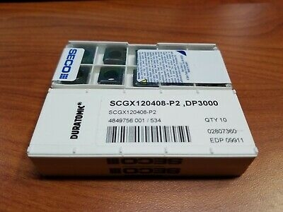 SCGX 150512 P2 DP3000 SECO *** 10 INSERTS *** 1 FACTORY PACK ***