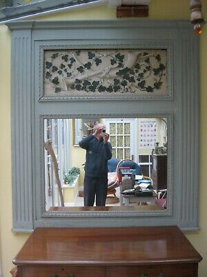 Genuine 19th century very large Antique French overmantle mirror or Trumeau