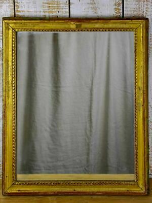 "Small 18th Century Louis XVI mirror with gilded frame 24½"" x 20½"""