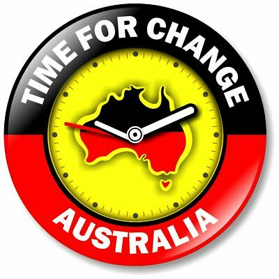 1 x Change The Date 32mm BUTTON PIN BADGE Aboriginal Flag Protest Day Australia