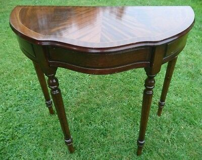 Mahogany Effect Regency Style Console Table/ Hall Table With Drawer