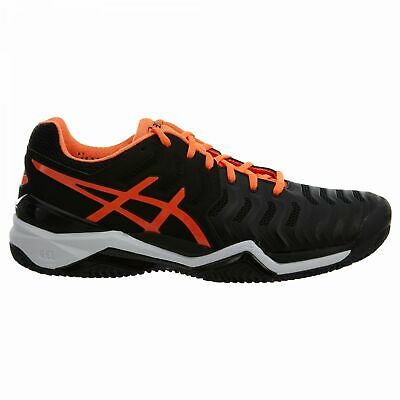 ASICS MENS BLACK Red Gel Resolution 7 Athletic Tennis