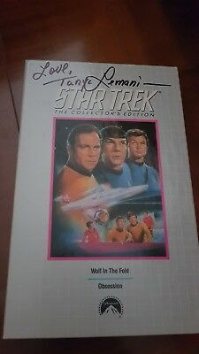 Star Trek Autograph On Betamax 'Wolf In The Fold' Hand Signed By Tanya Lemani
