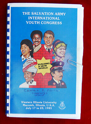 Salvation  Army  1985  International  Youth  Congress  Leaders  Brief