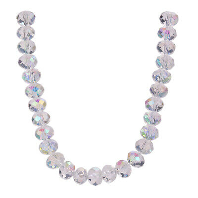 Crystal Clear AB 3-12mm Rondelle Beads Wholesale Faceted Loose Glass Findings