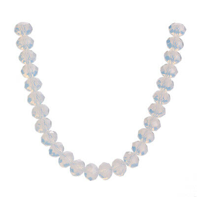 Crystal Wholesale Opal Jade Faceted Loose Spacer 3-12mm Glass Rondelle Beads
