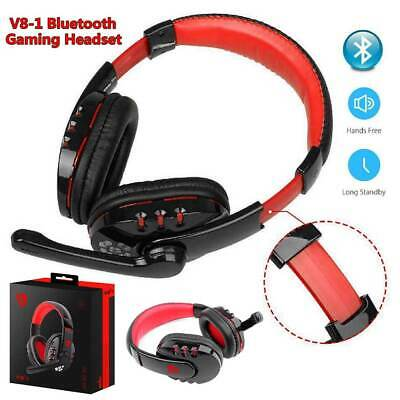 Gaming Headset Wireless Bluetooth Headphones Stereo w/ Mic for PC Xbox One PS4