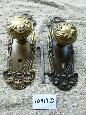 "Vintage Antique 1905 Y&T ""Olympian"" Art Nouveau Door Hardware 10919 D"