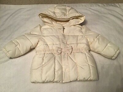 Toddler Girls White Puffer Coat from The Baby GAP, Size 12-18 Months