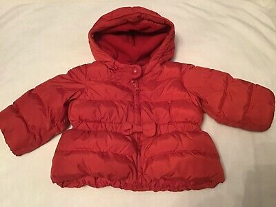 Baby Girls Red Puffer Coat from The Baby GAP, Size 6-12 Months