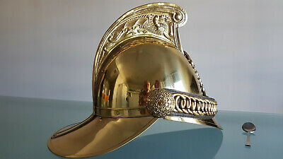 Firemans Helmet. All Brass. Nice Repro.  Like New. Great Collectors Gift