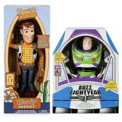 "Disney Toy Story 4 TalKing Woody & BUZZ Lightyear 16"" Action figure Toys NEW"