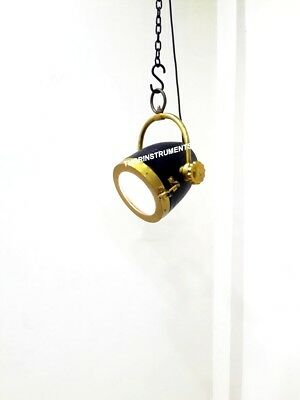 Collectible Nautical Black & Brass Finish Lamp Pendant/Hanging Ceiling Light