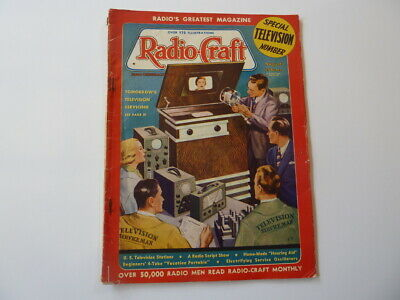Rare August 1938 Ed. of Radio-Craft magazine, Great article by G.Gernsback