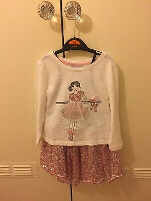 Girls Party Sequin Skirt & Top Set Aged 3 Years