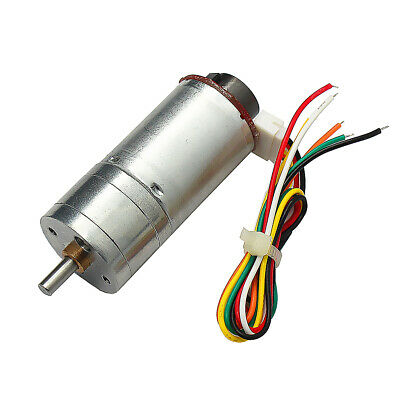 1pc 25GA370 DC6V, 12V, 24V Gear Motor With Encoder Electric Speed Reduce Motor