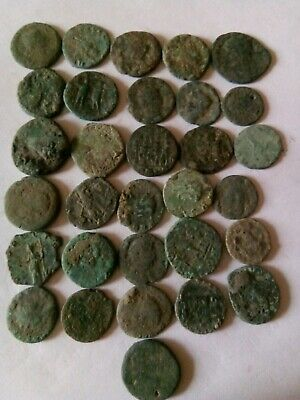 018.Lot of 31 Ancient Roman Bronze Coins,Uncleaned,92,2gr
