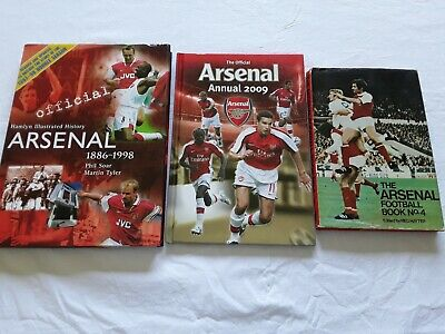 3 ARSENAL FC BOOKS Bulk Lot