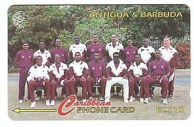 """Antigue-et-Barbude - Chipcard """"West Indies Cricket Team"""" 222CATA - Usagée/Used"""