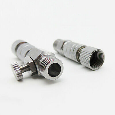 1pc Alloy Airbrush Hose Quick Release Coupler With Air Adjust Control Dial Tool