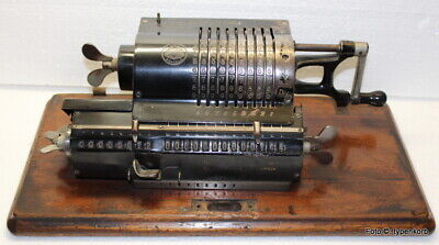Brunsviga B Rechenmaschine Vintage Mechanical Calculator Calculatrice 1910 !