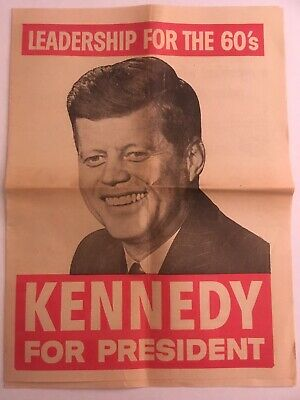 Kennedy Johnson 1960 Campaign Paper/Poster