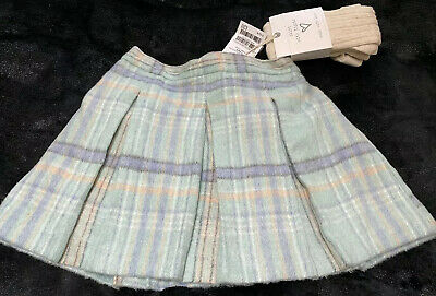 Next Girls Lined Skirt With Tights Age 3-4 Yrs Brand New With Tags BNWT