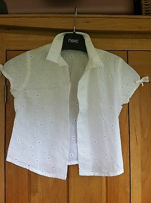 Girls M & S Broderie Anglaise Top/Blouse Age 6