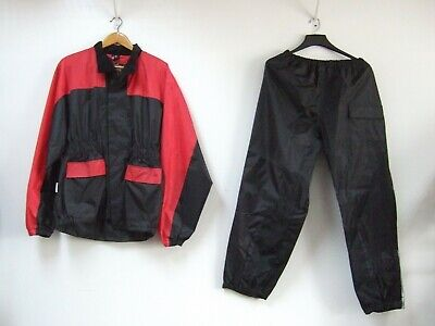 Himalaya Motor Bike Wear Rain Suit Medium Red & Black