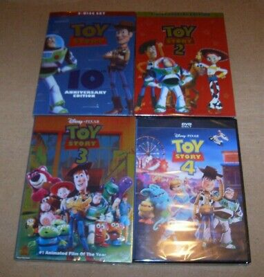 Toy Story 1 2 3 4 DVD Bundle Set Complete series 1-4 FREE SHIPPING!!