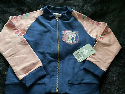 Girls Disney Animations  Zip Up Jacket Long Sleeved Top Age 3-4yrs. NEW- BNWT