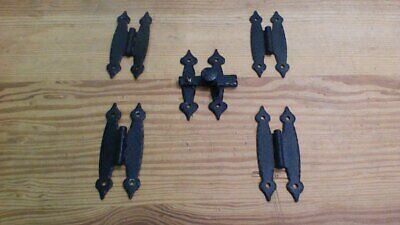 VINTAGE LOT HAMMERED METAL CUPBOARD DOOR HINGES  Rustic Colonial