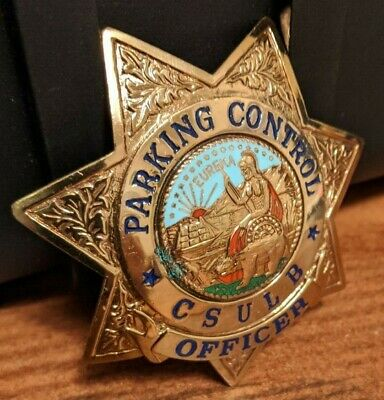 Old/Obsolete California State University Long Beach parking badge police