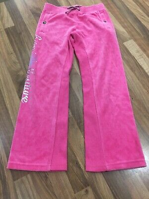 Girls Age 6 Juicy Couture Pink Velor Tracksuit Bottoms