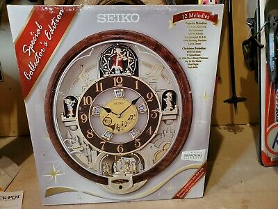 SEIKO Special Collector's Edition 12 Melodies In Motion Music Wall Clock