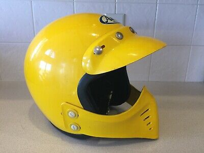 Vintage Aria Snell 1975 Racing Helmet with Face Guard   Motocross