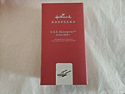 Hallmark 2018 U.S.S. USS Enterprise Star Trek Metal Keepsake Christmas Ornament