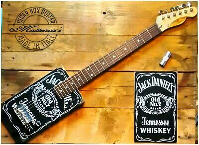 Jack Daniel's Cigar box guitar 6 strings by Matteacci's made in italy