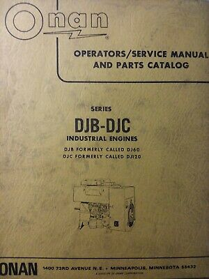 Onan Diesel DJB DJC Electric Generator Repair Service & Parts Manual DJ60 DJ120