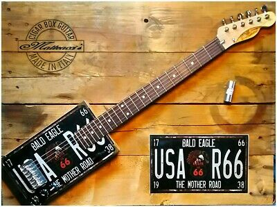 Usa R 66 Cigar box guitar 6 strings by Matteacci's made in italy