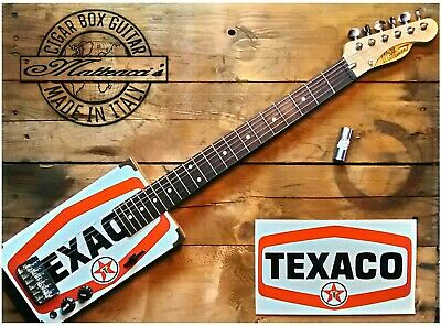 Texaco Cigar box guitar 6 strings by Matteacci's made in italy