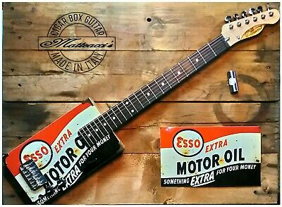 ESSO Cigar box guitar 6 strings by Matteacci's made in italy