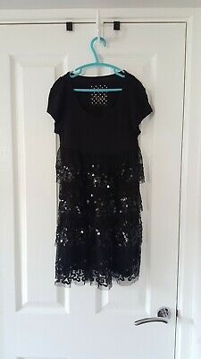 Next girls black sequined top age 9 years