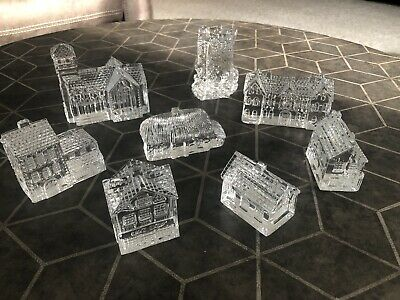 Waterford Crystal Lismore Village -8 Pieces
