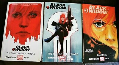 3 BLACK WIDOW Marvel Comics Graphic Novels Job Lot Bundle The Punisher Avengers