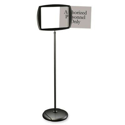 """MasterVision Silver Easy Clean Adjustable Sign Stand, 39.4""""x15.2"""" Black"""