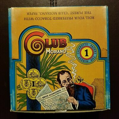 Club Modiano 1 Cigarette Rolling Papers 1 Full Box 100 packs Rare Vintage
