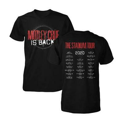 HOT NEW Motley Crue Is Back The Stadium Tour 2020 Event Shirt Size S-3XL