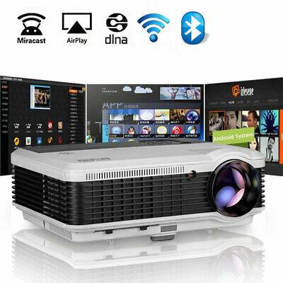 6000lms Smart Wifi Android Projector HD 1080P Outdoor Party TV Airplay Miracast