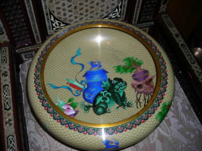 """Holiday Sale!  Huge Top Quality Vintage 16"""" Across Chinese Dragon Cloisonne Bowl"""